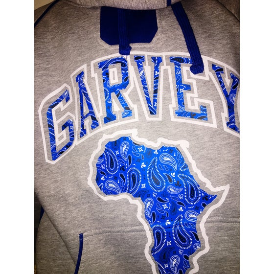 Image of GARVEY ROYAL BLUE PAISLEY TwoTone Hoody