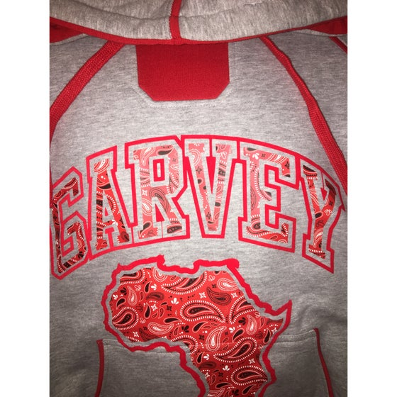 Image of GARVEY BLOOD RED PAISLEY Two Tone Hoody