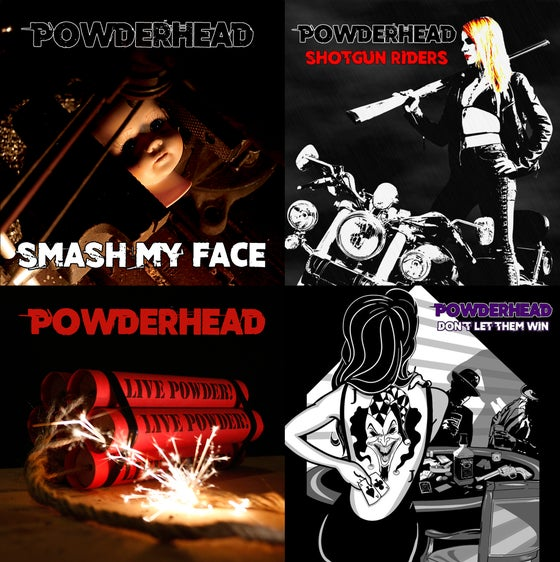 Image of Music: Smash My Face Single / Shotgun Riders Single / Live Powder! EP / Don't Let Them Win Album