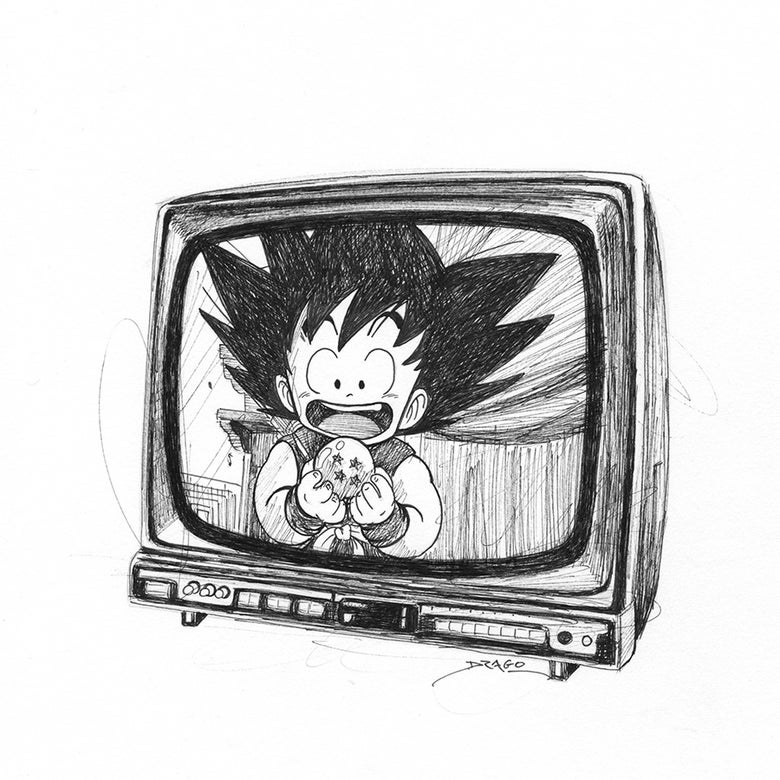 Image of Dragon Ball 30 ans Doodle (Original Drawing)