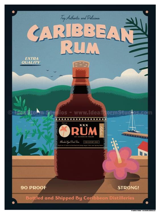 Image of Caribbean Rum Poster