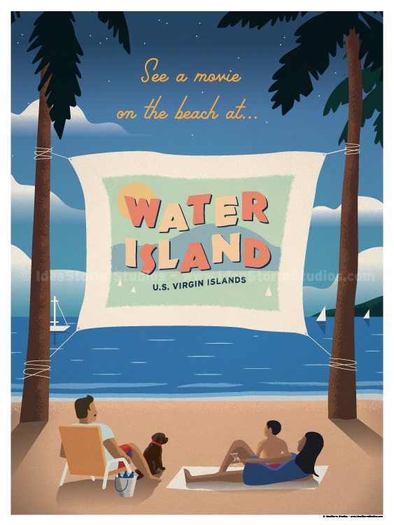 Image of Water Island Poster