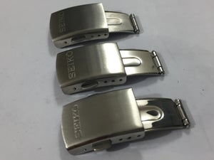 Image of SEIKO STAINLESS STEEL GENTS WATCH DEPLOYMENT BUCKLES,SIZES 16MM,18MM,20MM.NEW.