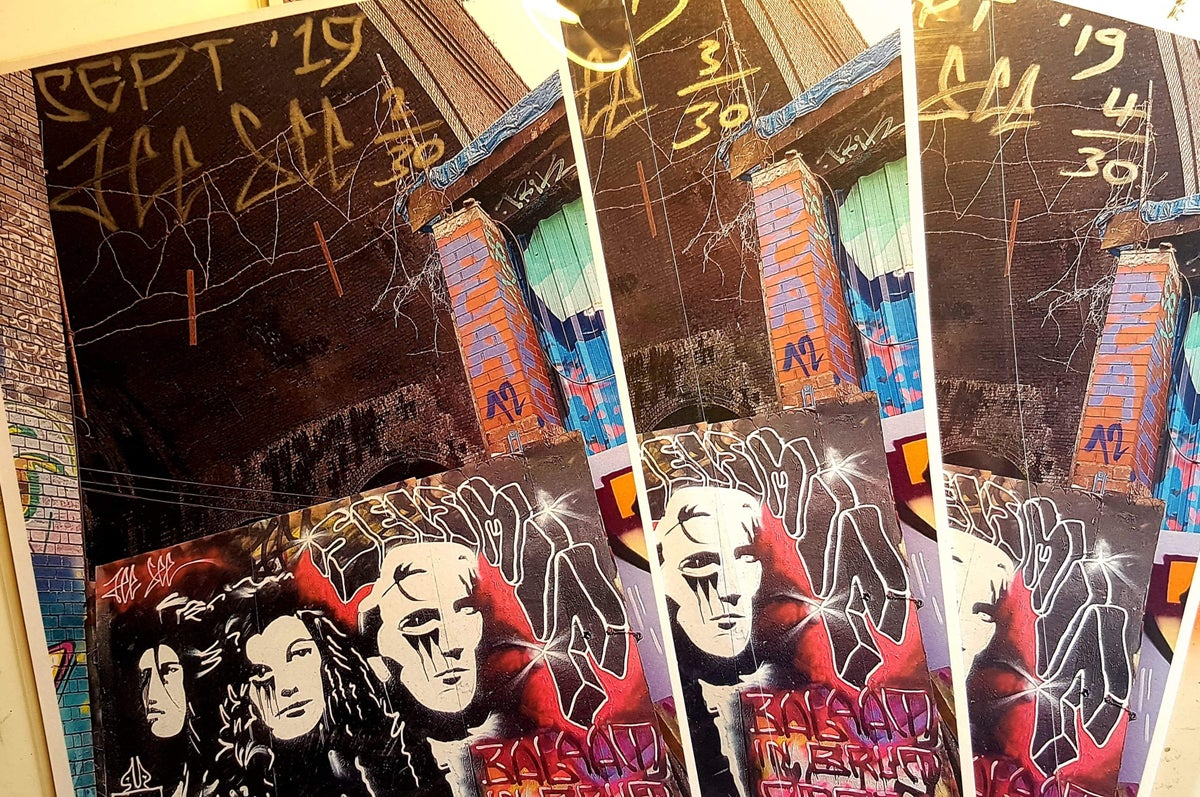 Image of A4 size limited edition high resolution graffiti  print, signed and numbered by artist Jee See