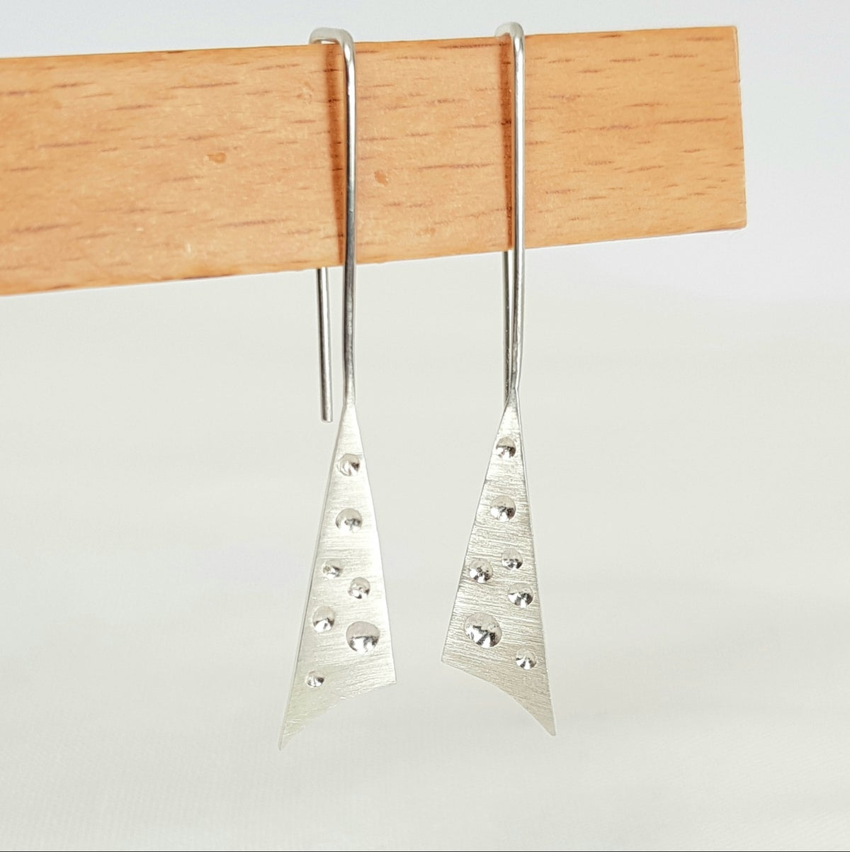 Image of Sterling Silver Contemporary Triangle Earrings