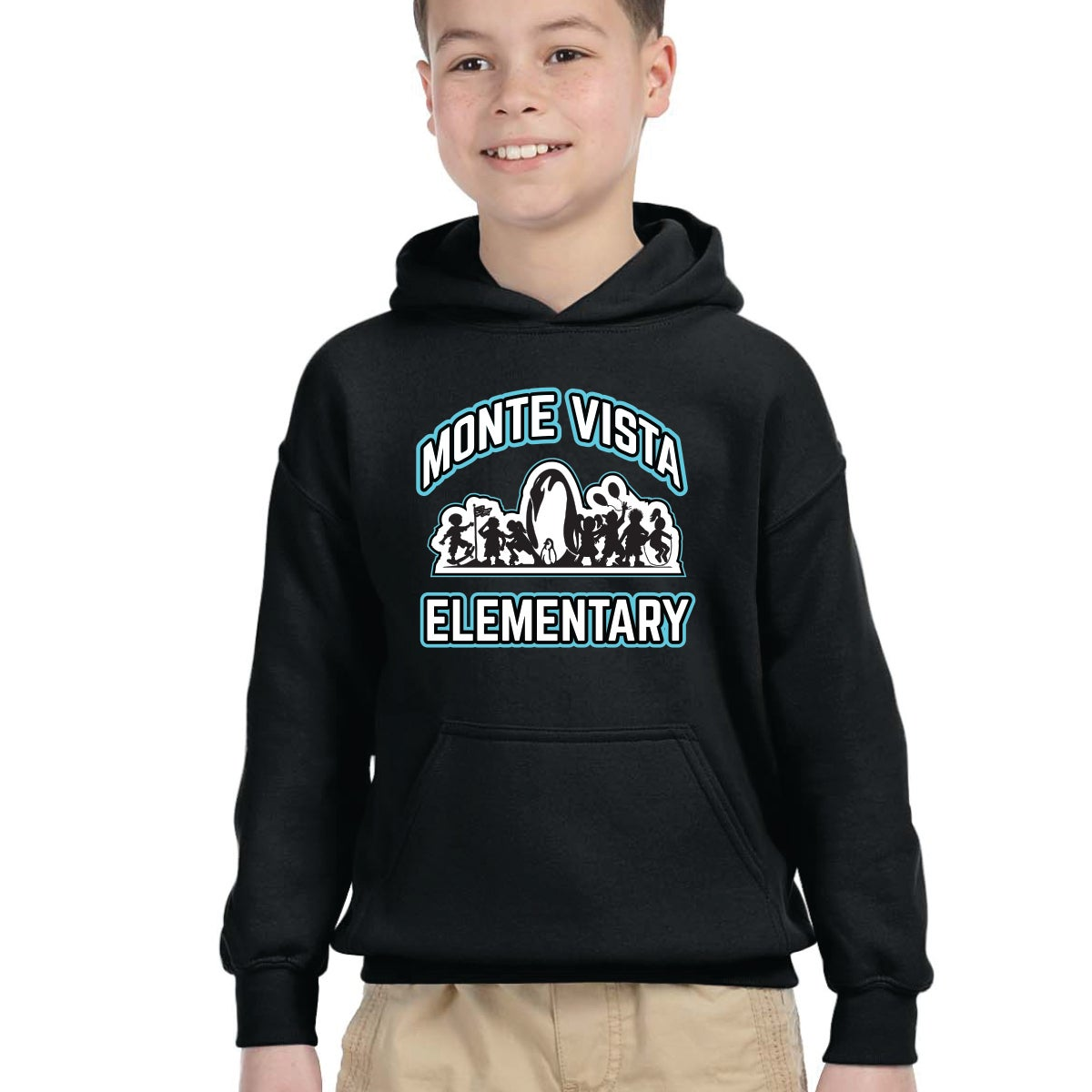 Image of Monte Vista Elementary - Youth Hooded Pull-over Sweatshirt