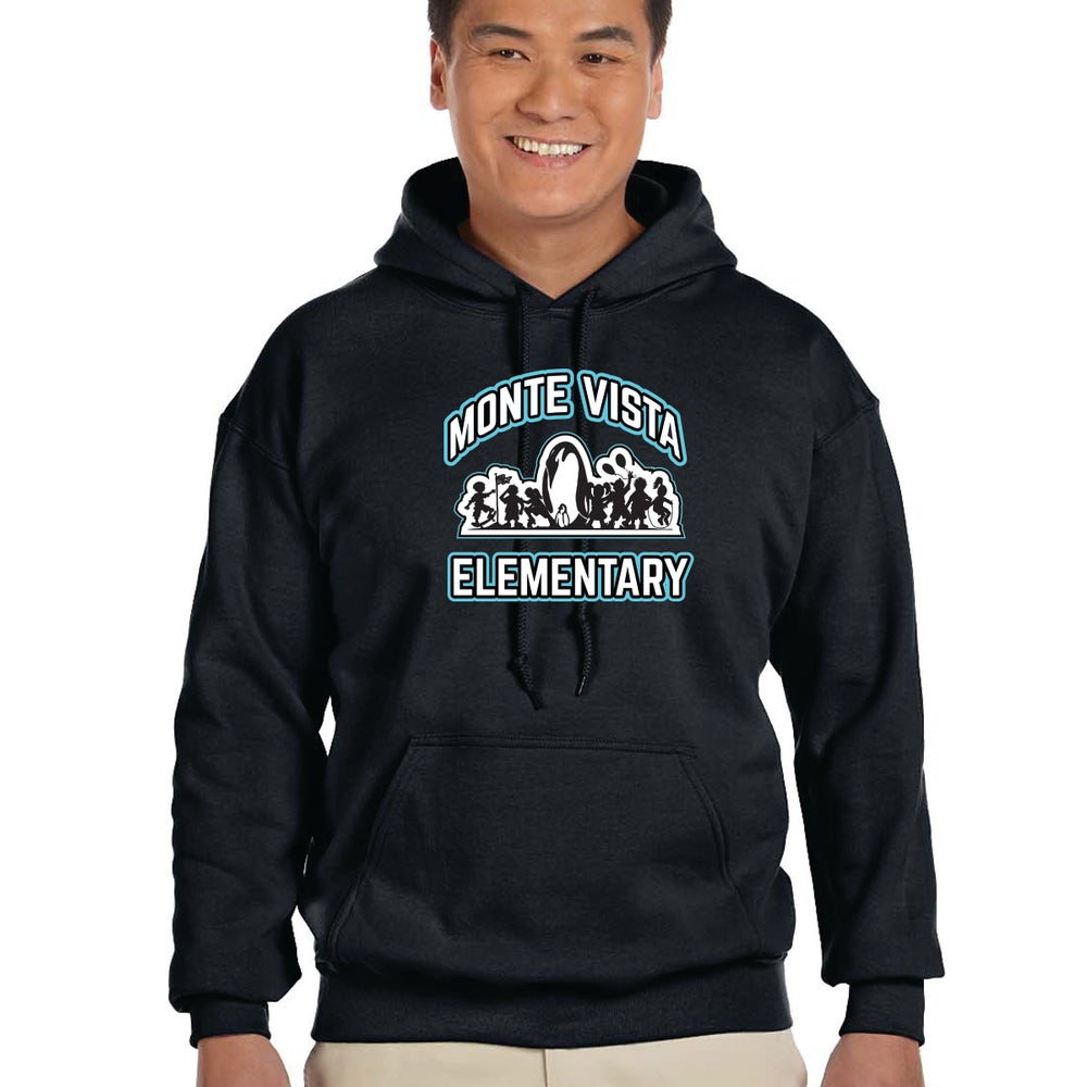 Image of Monte Vista Elementary - Mens / Unisex Hooded Pullover Sweat Shirt
