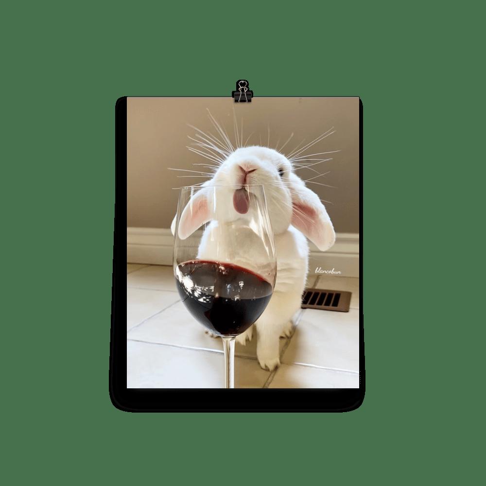 Image of Blanco 'Wine Glass' Poster - Matte