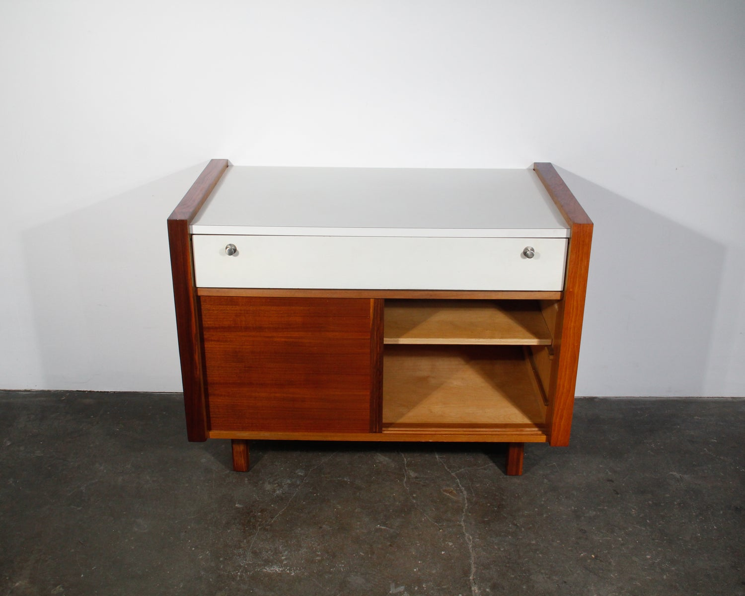 Image of Petite Walnut Cabinet by Brown Saltman