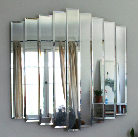 Image of Cascading Nine-Panel Wall Mirror
