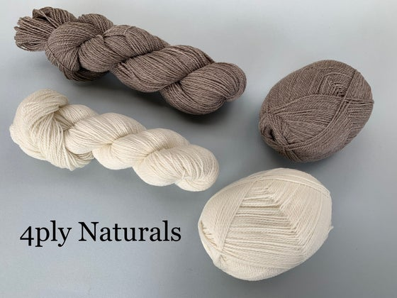 Image of Polwarth Yarn - Undyed Naturals - 4ply / Fingering