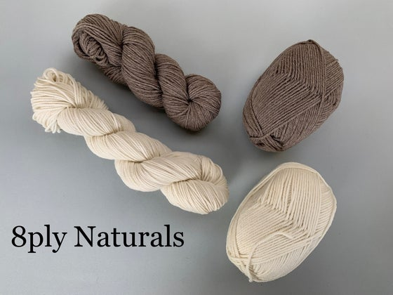 Image of Polwarth Yarn - Undyed Naturals  - 8ply / DK
