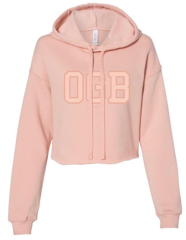 Image of Peach OGB Crop-top Hoodie