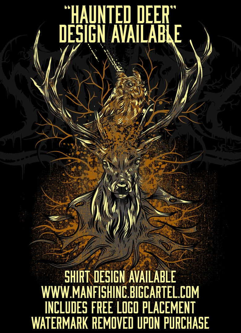 Image of Shirt Design - Haunted Deer