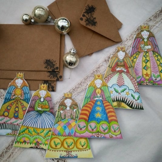 Image of Angel Christmas Cards (pack of 6 different designs)