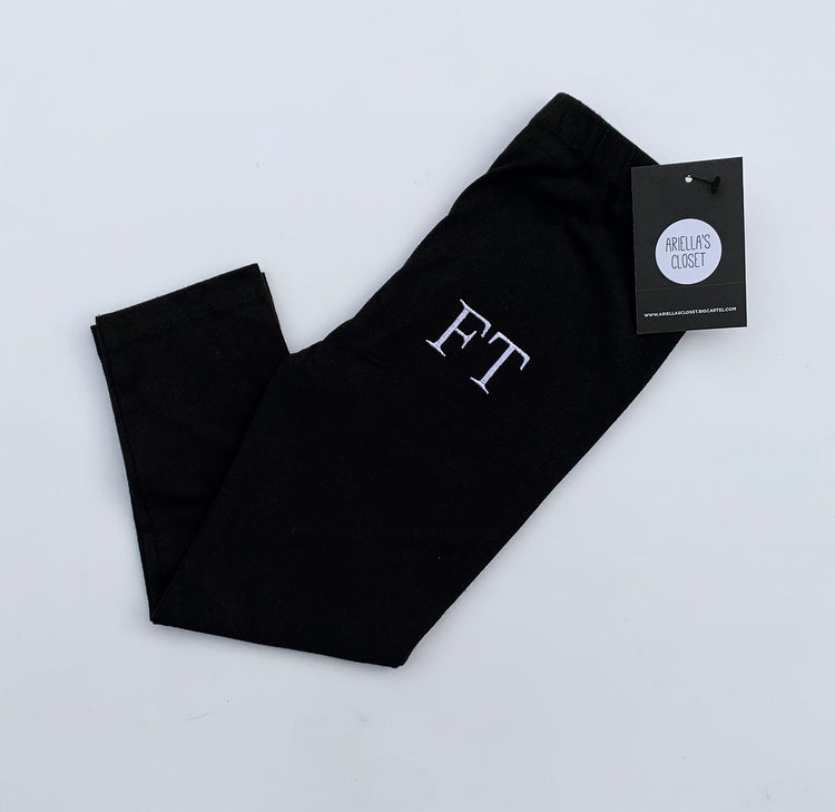 Image of EMBROIDERED INITIALS LEGGINGS