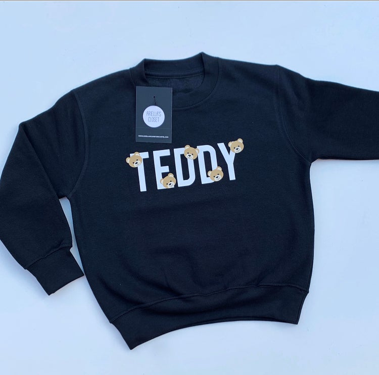 Image of PERSONALISED NAME WITH BEARS HOODIES AND SWEATERS