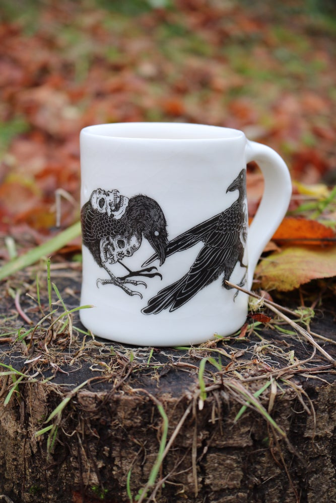 Image of Murder of crows porcelain mugs