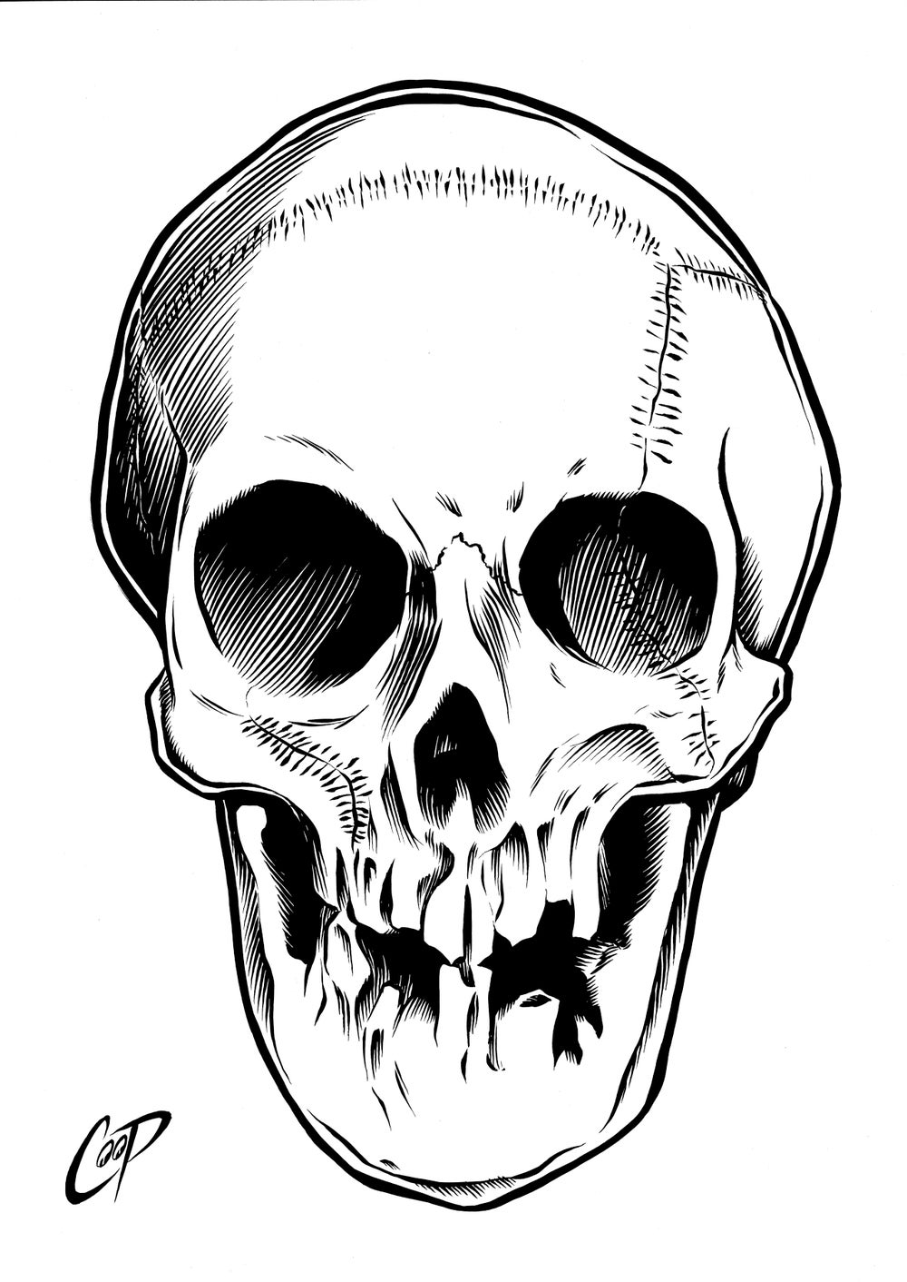 Image of PIRATE SKULL original art