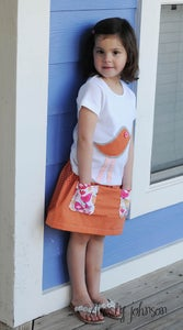 Image of Birdie Love - Baby, Toddler, Girls Outfit - Boutique Twirl Skirt & Appliqued Tee