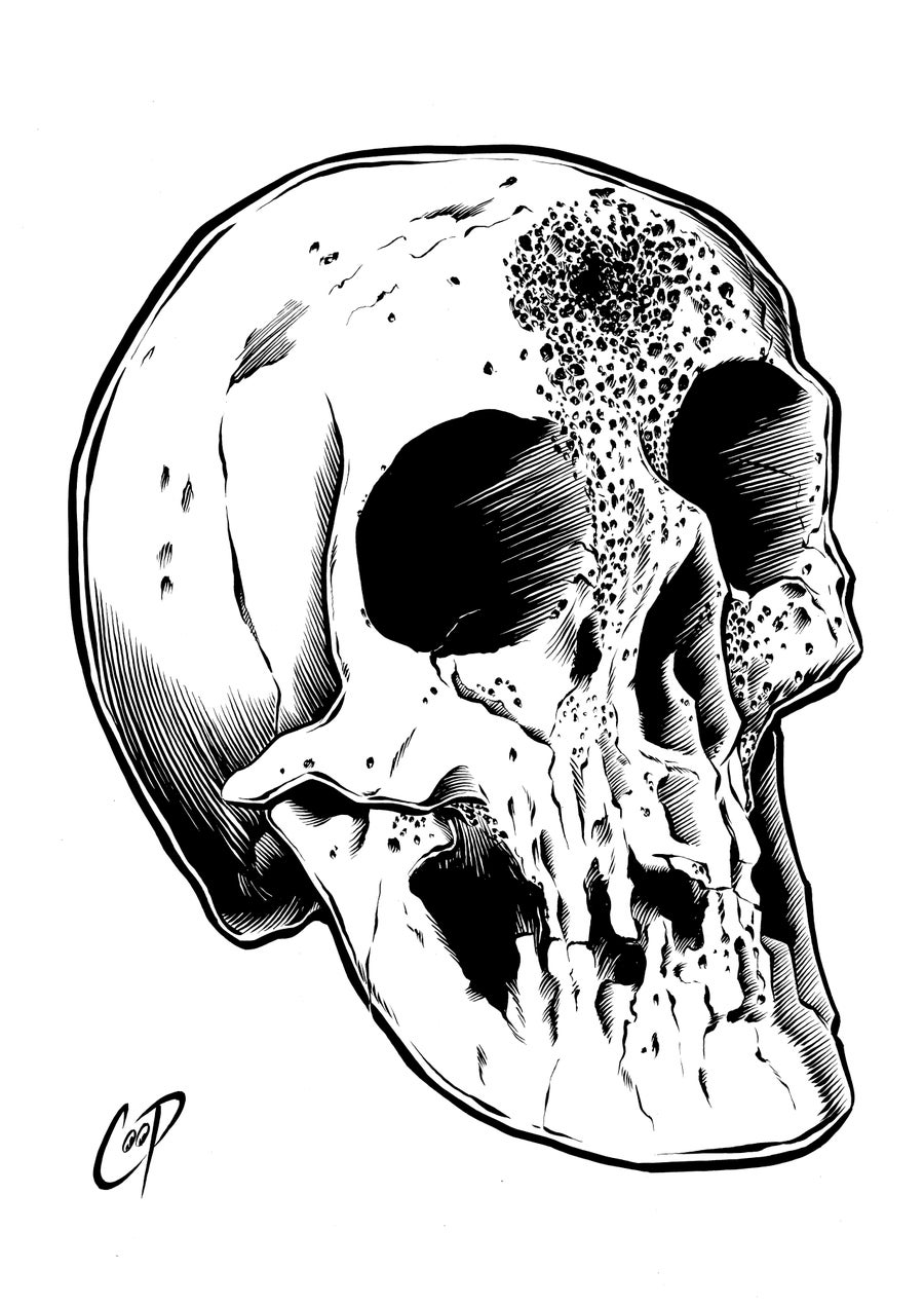 Image of VOODOO SKULL original art