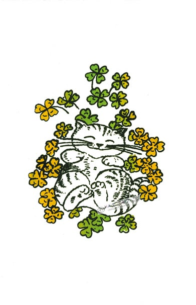 Image of Cat in Clover
