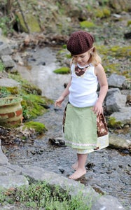 Image of Callie Apron Outfit - Baby, Toddler, Girls - Boutique Twirl Skirt with applique shirt