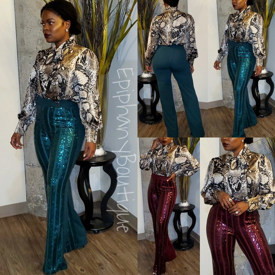 Image of The Mia Blouse & The Julian Sequin Pant-**Separates**