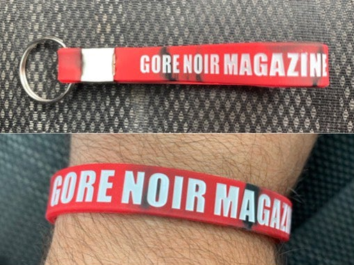 Image of Wristband/Keychains Red Black Swirl GORE NOIR MAGAZINE
