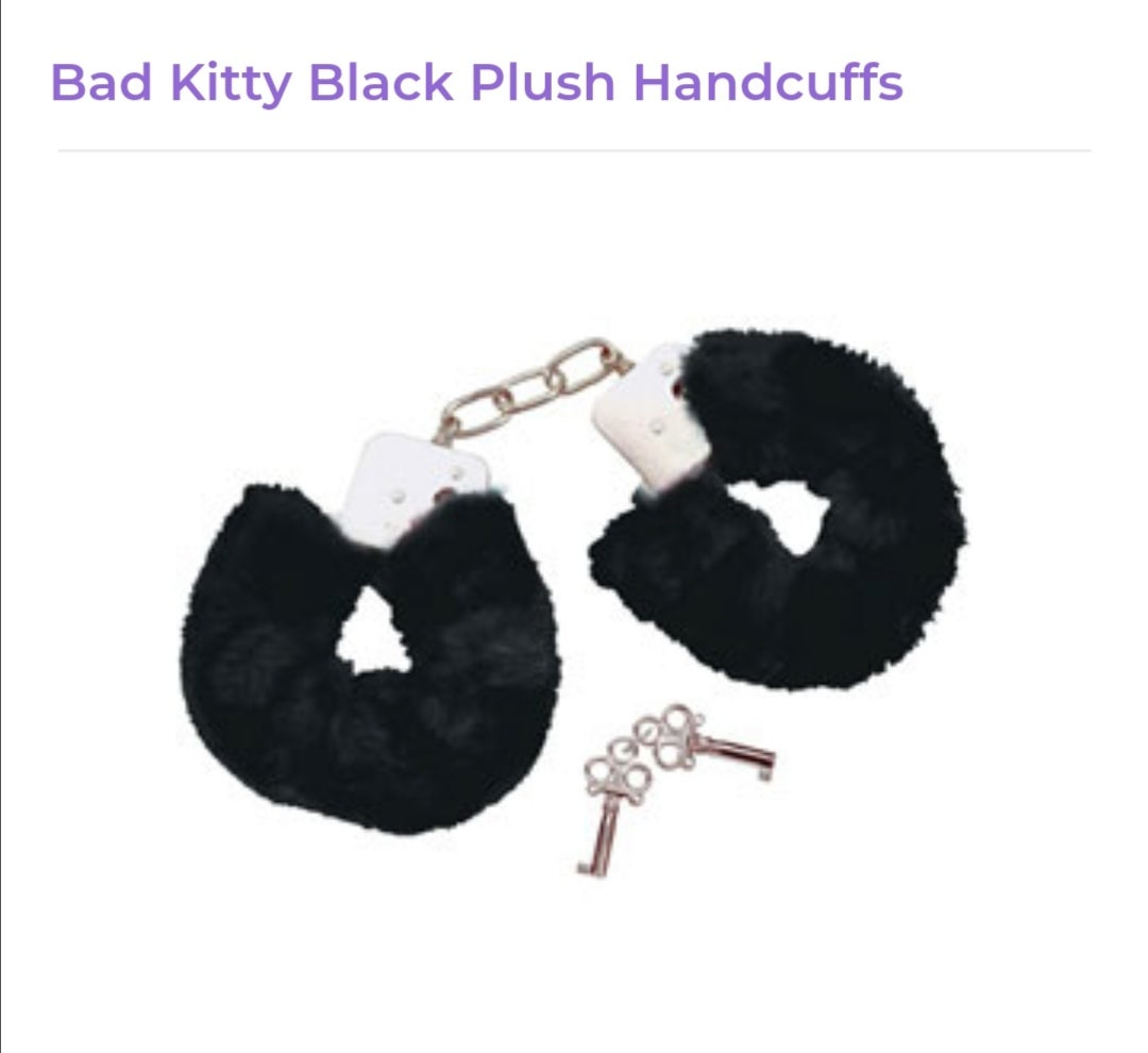 Image of Black Furry Handcuffs