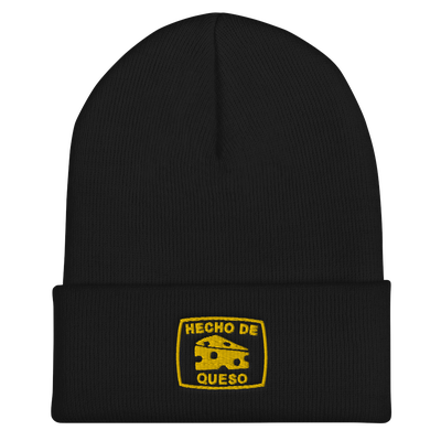 Image of HECHO DE QUESO CUFFED BEANIE (Black)