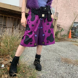 """Image of 50% OFF BLACK FRIDAY SALE! Purple Poison Pre-Collection """"Kawaii Grunge"""" Shorts"""