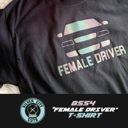 "Image of SILVERCITYCUTS - B5S4 ""Female Driver"" T-Shirt"