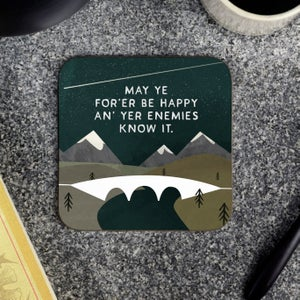Image of Gift box of four mountain coasters (Whits fur ye)