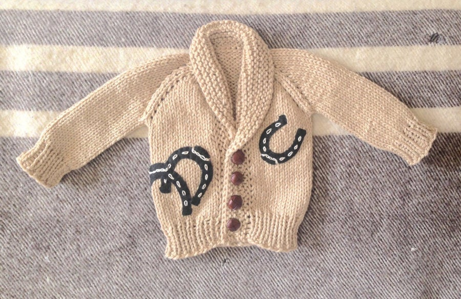 Image of Dale Evans 'Happy Trails' Baby Sweater
