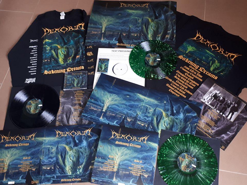 Image of NBR008LP DEMORED - SICKENING DREAMS  Gatefold Green Splatter lim to 222 Copies +Shirt +CD