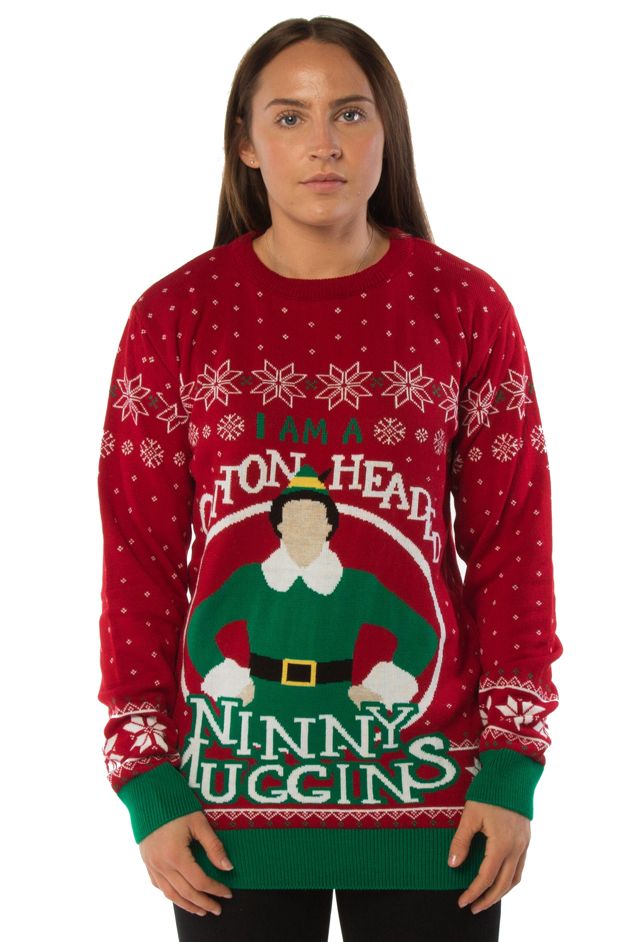 Official Aladdin Genie Christmas Wishes Children/'s Blue Knitted Christmas Jumper