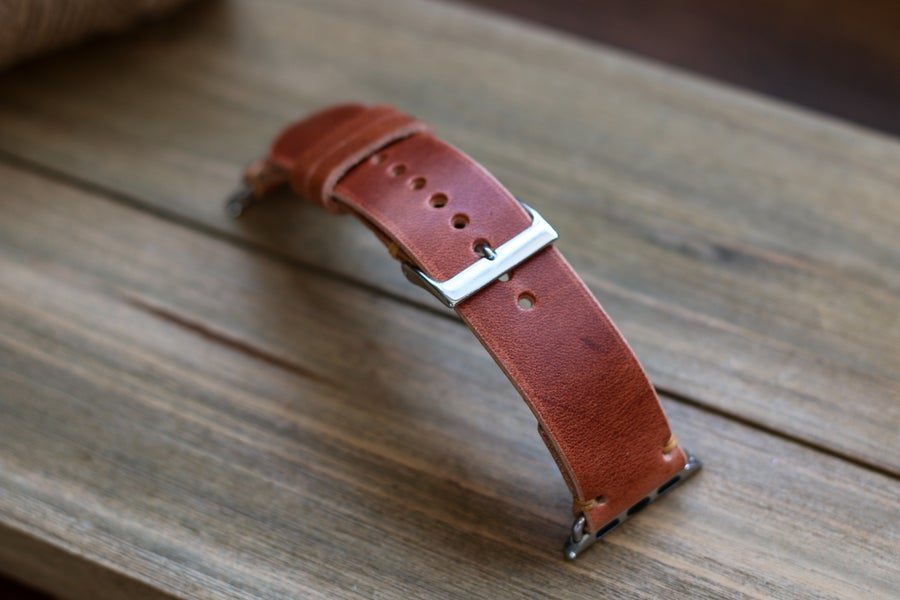 Image of Apple Watch Strap in Horween Natural Dublin