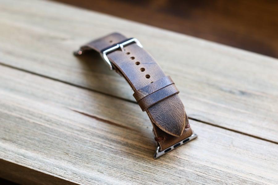 Image of Apple Watch Strap in Brown Crazyhorse