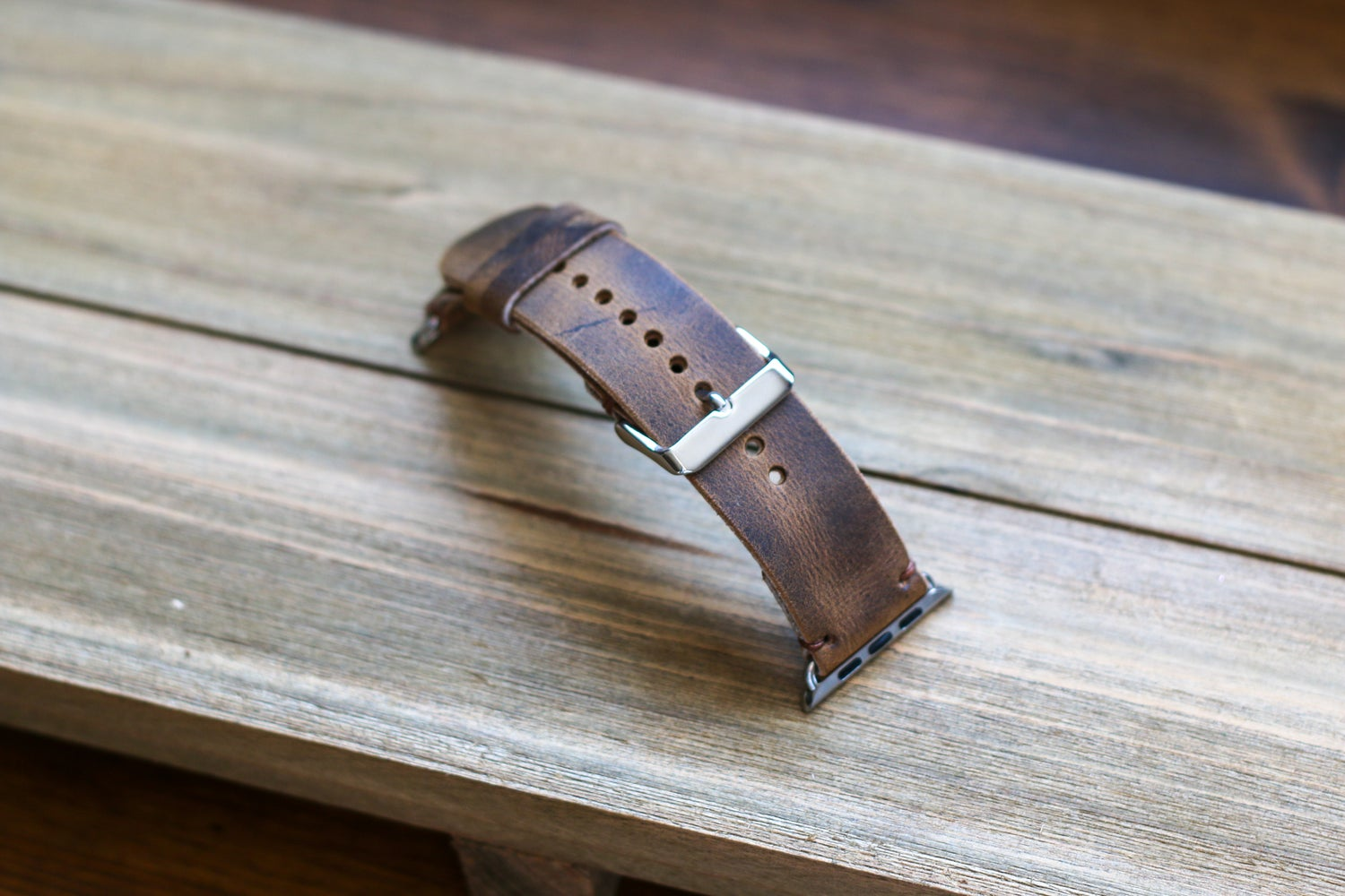 Image of Apple Watch Strap in Brown Crazyhorse