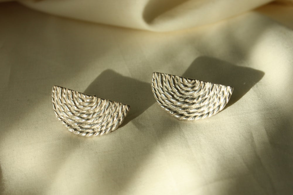 Image of Half Moon Basket Earrings