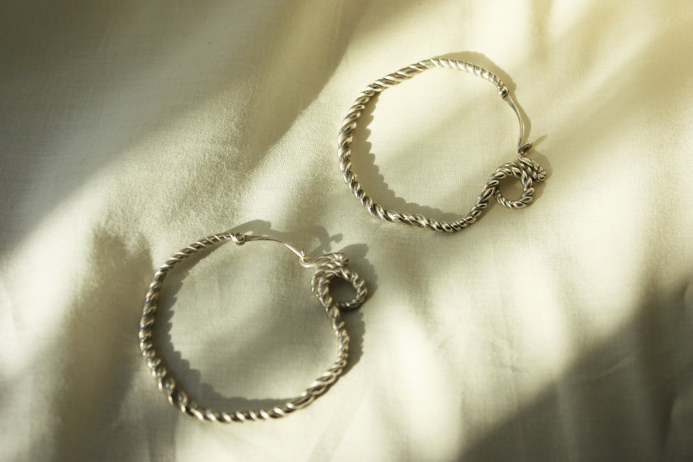 Image of Silver Rupa Hoops