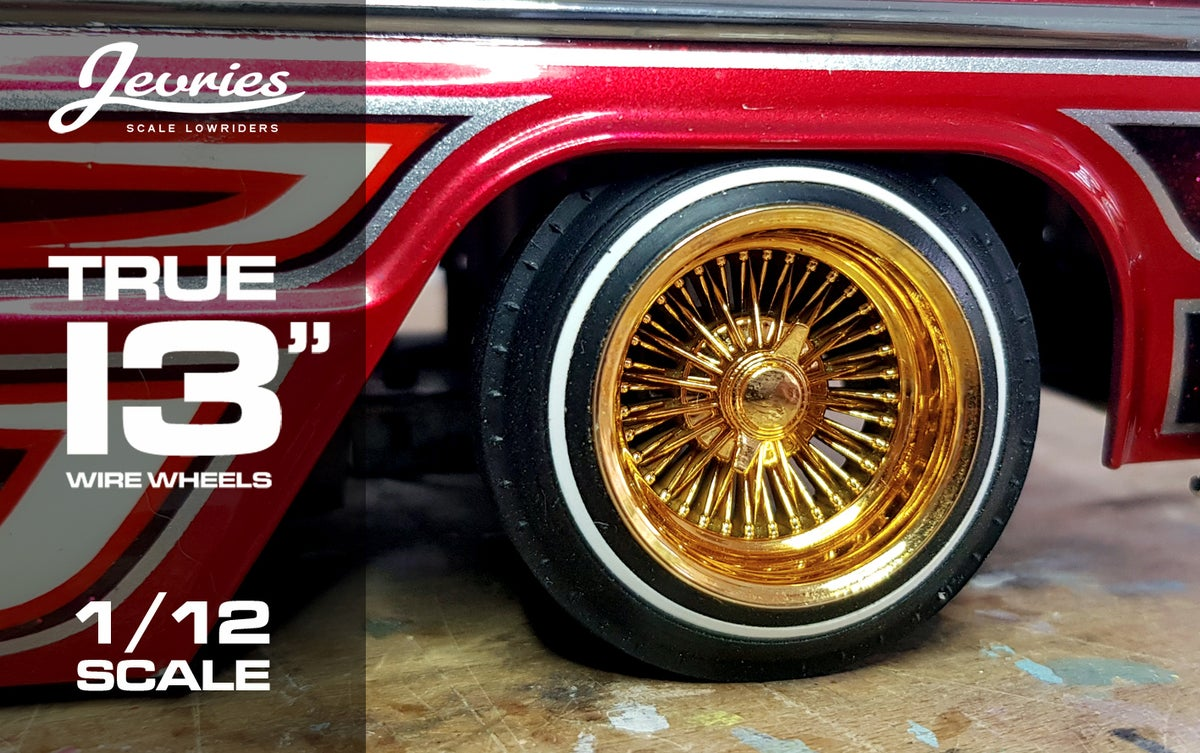 Jevries Gold 1 12 Scale True 13 Quot Lowrider Wheels Amp 520