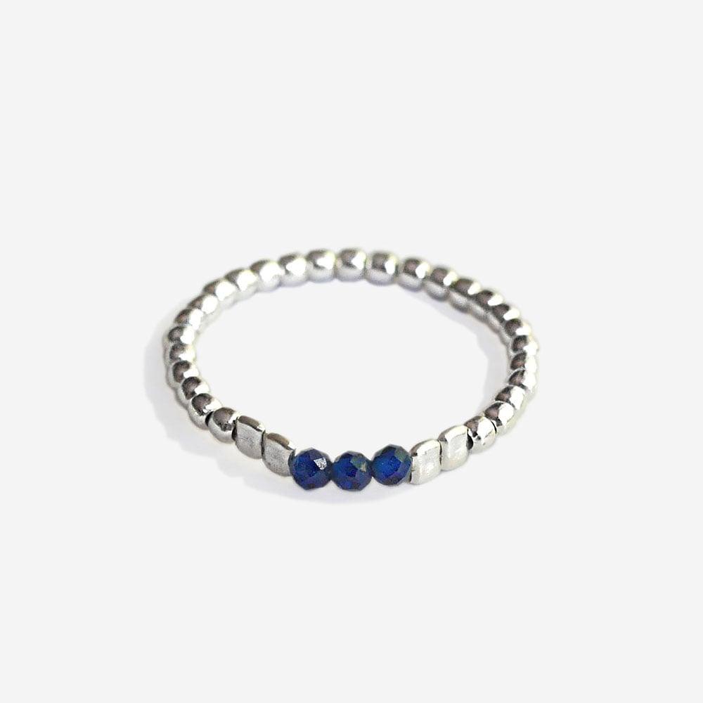 """Image of Bague pierre bleu """"Saphir"""""""