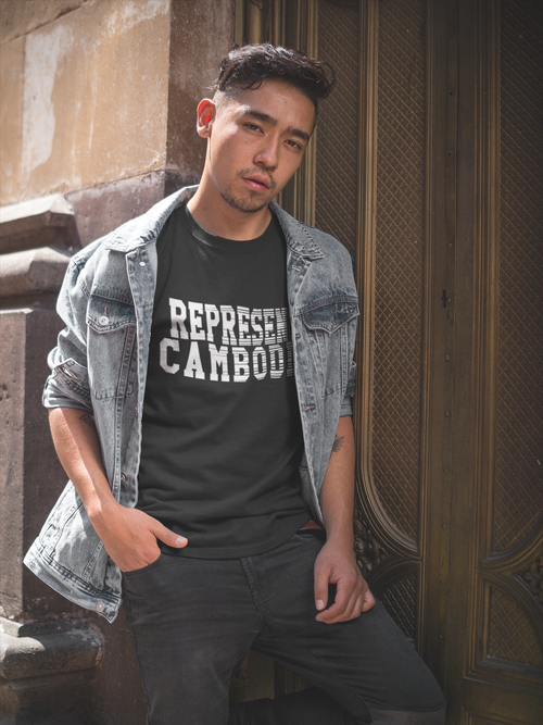 Image of REPRESENT CAMBODIA FADE AWAY TEE