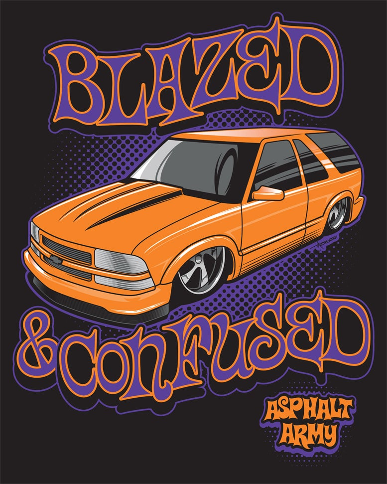 """Image of 24x30"""" Blazed & Confused Banner"""