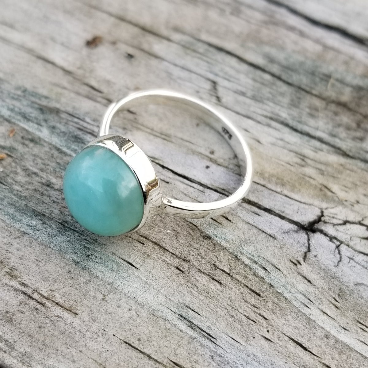 Image of Isle Ring - Larimar in Sterling