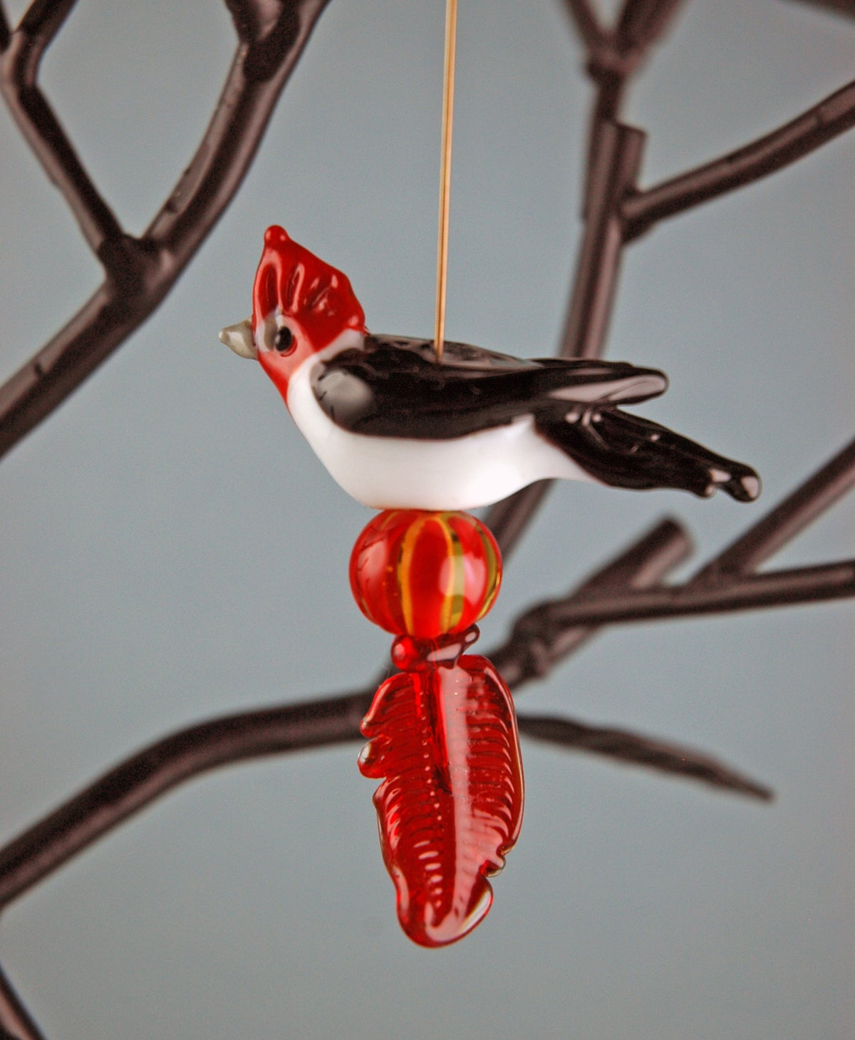 Image of Red Capped Cardinal (4 beads)