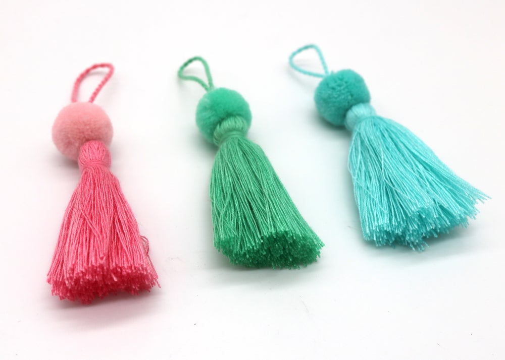 Image of Mini Tote Tassels
