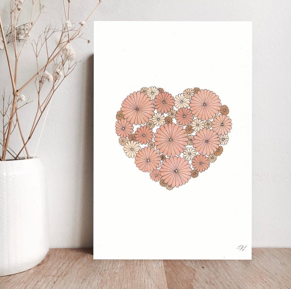 Image of Carte coeur  rose